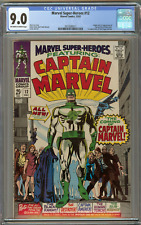 Marvel Super-Heroes #12 (CGC 9.0 OW/White) VF/NM 1st Appearance Captain Marvel