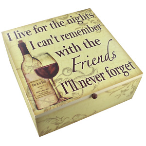 Memory Box Keepsakes Photo Storage Box I Live For The Nights Wine Hen Party BFF