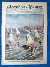La Domenica del Corriere 25 luglio 1920 Velieri umani Stephen Ferrarin Masiero