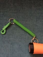 Lanyard Spring Coil Stretchable Key Chain for pinpointer metal detecting, GREEN