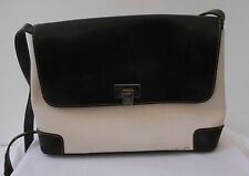 Liz Claiborne SHOULDER Bag Medium SIZE OFF WHITE & BROWN WITH COMPARTMENTS