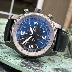 ORIS Big Crown X1 Calculator Automatic Pilots Chronograph Watch 46mm