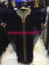 Ultimo Design Dubai Abaya Caftano Farasha Maxi Abito Abaya + Hijab Sciarpa {}