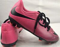 Nike Soccer Cleats Youth Size 4 Neon Pink & Black Lace Up