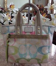 COACH HAMPTON SCRIBBLE MULTI-COLOR HANDBAG PURSE - A065-201
