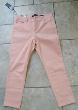 ADRIENNE VITTADINI Lovely Pink Stretch Skinny Crop Jeans US 8 Fit UK 12-14 NWT