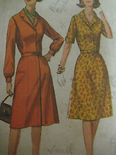Vintage Simplicity 6194 ONE-PIECE DRESS w/ CONCEALED ZIPPER Sewing Pattern Women