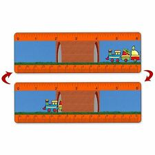 Ruler Bookmark Kids Toy Train School Books Animated 6 Inch Lenticular #RU06-353#