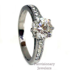 2.19cttw Engagement Ring Cubic Zirconia Solitaire 316 Stainless Steel Sz 5 & 10