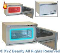 2 in 1 Hot Towel Warmer Cabinet UV Sterilizer Nail Spa Beauty Salon Equipment