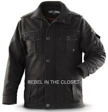 Sharp Military Style Jacket - Poly / Wool Blend Men Size 2XL in Black