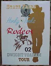 RARE DWIGHT YOAKAM 2002 TOUR POSTER 18 X 24 GEM MINT! FREE SHIPPING!