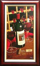 "Thomas Stiltz ""Heits Cellar"" SN Red Wine Giclee Canvas SIGNED ARTWORK framed"