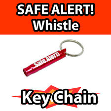 SAFE ALERT! TM Safety Survival Rescue WHISTLE for EMERGENCY key chain aluminum
