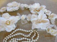 Handmade Vintage Style Wedding Flower Garland,Centerpiece Shower Flower Garland