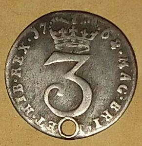 George 3rd Maundy Silver 3 Pence 1762