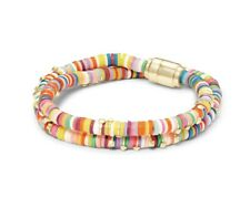 Kendra Scott Reece Wrap Bracelet in Bright Mix Pink Gold Yellow Blue