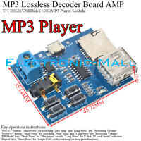 MP3 Nondestructive Decoding Board TF Card USB Interface Music Player With 2W AMP
