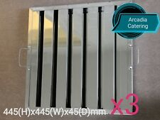 3xLOBO Heavy Duty Stainless Steel Canopy Extraction Grease Baffle Filter 445x445