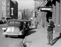 "1940 Street Scene, Dubuque, Iowa Vintage Photograph 8.5"" x 11"" Reprint"