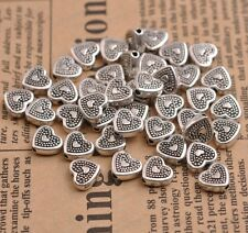 20/50/100Pcs Tibetan Silver Heart Loose Spacer Bead Charm Jewelry Finding