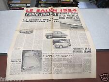 L AUTO JOURNAL N° 111 1er octobre 1954 le salon 1954 Essai Ford 55/ Oldsmobile*