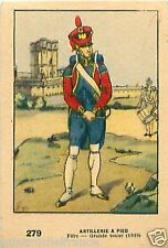 ARTILLERIE A PIED FIFRE NAPOLEON IMAGE CARD 1950 COSTUME MILITAIRE