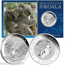 Perth Mint Koala 999 Silver Round Proof 1/10th Troy Oz w/ Info/ Assay & Capsule