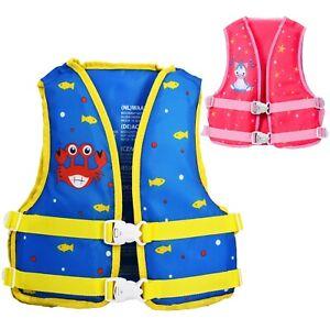 Child Swim Vest Float Life Jacket - Boy Girl Kids Swimming Aid Floating Buoyancy