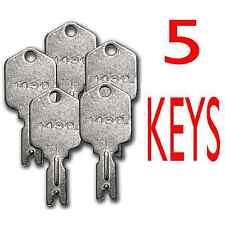 5 Forklift Key Clark Yale Daewoo Gradall JLG Hyster Crown Komatsu Catepillar