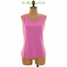 NWOT AMBER SUN NORDSTROM NECK DETAIL SLEEVELESS STRETCH TANK TOP PINK MEDIUM B71