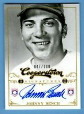 Johnny Bench 2012 12 Panini Cooperstown Baseball SP Auto Autograph #/100 HOF