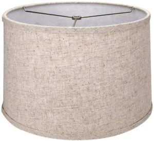 Tootoo Star Brown Lamp Shade Large Drum Lampshade for Chandeliers Floor Light an