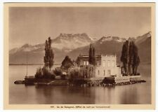 Switzerland; Montreux - Salagnon Island Hold To Light Novelty PPC, Unposted