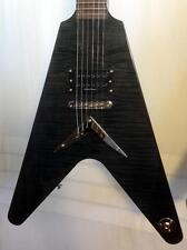 """Dean Karl Sanders """"The Black V"""" Trans Black Electric Guitar"""