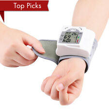 LCD Digital Wrist Blood Pressure Monitor Heart Rate Beat Pulse Meter Measure NFH