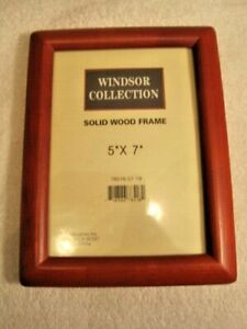 "Windsor Collection All Wood Picture Frame 5"" x 7"" With Glass by BP industries In"