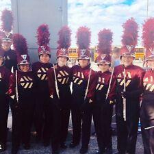 Marching Band FULL Uniform Shako Plume Bib Jacket Gaunlets