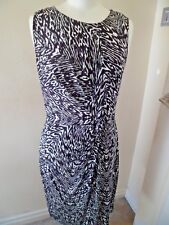 Timeless GHOST Stunning Black & White Dress Large Worn Once