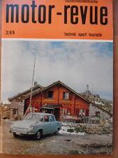 Tschechoslowakische MOTOR REVUE  2 - 1969 (1)* Auto Salon JAWA CZ Motorsport