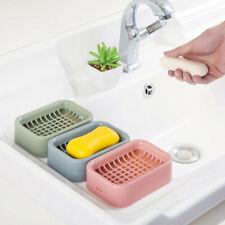 Soap Holder Double Layer Plastic Drainage Soap Box Holder Shower Soap Dish