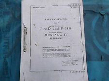 ww2 raf usaaf p51 mustang parts manual 210 pages nice photo copy
