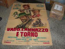 VADO ... L'AMMAZZO E TORNO manifesto 2F originale 1967
