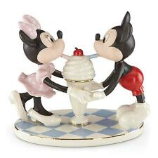 Lenox Disney's Soda Shoppe Sweethearts Mickey and Minnie Mouse Figurine