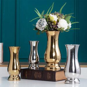 Stainless Steel Luxury Flower Vase Holder Wedding Table Centrepiece Hotel Decor