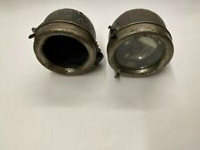 Vintage Brass Era Ford Model A T Reflector Car Truck Tail Light Headlight Pair
