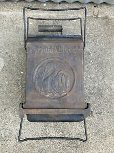 Vintage Hibachi Fold Open Portable Cast Iron Charcoal Grill *see Description