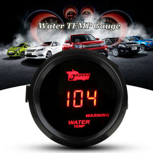 "2"" 52mm Water Temp Gauge Digital LED Temperature Car Universal Meter w/ Sensor"