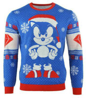 Official Sega Sonic The Hedgehog Knitted Christmas Jumper Ugly Sweater 2020