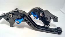 Suzuki GSX 1400 2001-2007 Adjustable Black Levers Blue Adjusters (Shorty)